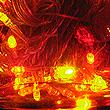 ST60YOR-6MCI、クリアーケーブル LEDストレート 6m イエロー&オレンジ&レッド